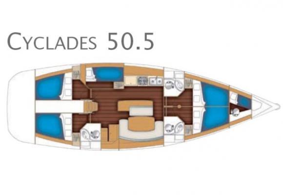 Segelyacht Cyclades 50.5 in Marina di Portorosa chartern-29324-0