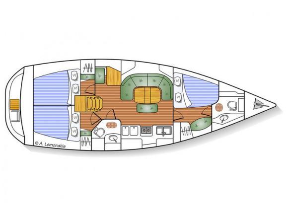 Segelboot Oceanis 393 Clipper Yachtcharter in Ermoupoli-29419-0