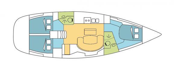 Yacht Oceanis 423 Yachtcharter in Cienfuegos-28361-0
