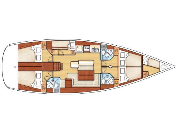 Yacht Oceanis 50 Family Yachtcharter in Rogac-31604-0