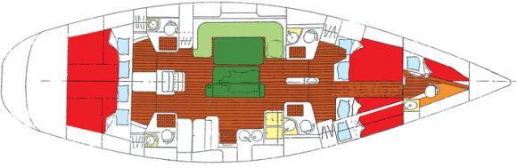 Segelyacht Oceanis 510 in Salong Marina Stranne ausleihen-29901-0