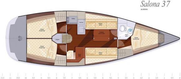 Sailing yacht Salona 37 available for charter in Marina Amalfi-22961-0-0
