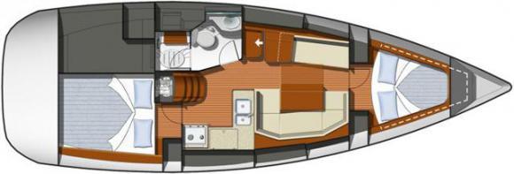 Segelyacht Sun Odyssey 36i in Hyeres Harbour chartern-31450-0