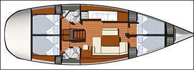 Yacht Sun Odyssey 44i chartern in Puntone-28774-0