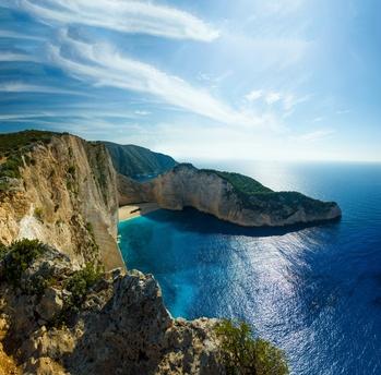 Navagio beach in Greece - credit Netfalls